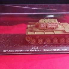 Maquetas: TANQUE KV_1E 109 ARMOURED BRIANSK USSR 1941. Lote 288665458