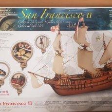 Maquetas: MAQUETA BARCO GALEON ESPAÑOL SAN FRANCISCO-II S. XVI ESCALA 1:90 REF 20452-N ARTESANIA LATINA. Lote 289154638