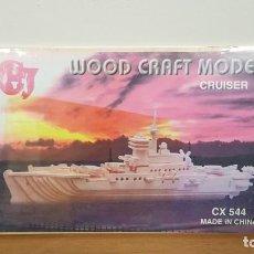 Maquetas: MAQUETA EN MADERA BARCO CRUCERO O CRUISER CX 544 DE WOOD CRAFT MODEL. Lote 289385678