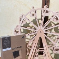 Maquetas: KIT DE NORIA PARA MONTAR ART & WOOD. Lote 291943568