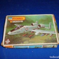 Maquetas: MATCHBOX - MAQUETA AVION PK-121 FAIRCHILD, A-10A, ESCALA 1/72 AÑO 1973, VER FOTOS! SM. Lote 293236918
