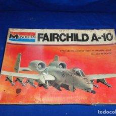 Maquetas: MONOGRAM - MAQUETA AVION FAIRCHILD A-10 ESCALA 1/72 AÑO 1977, VER FOTOS! SM. Lote 293238508