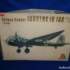 Maquetas: ITALAEREI - MAQUETA AVION GERMAN BOMBER JUNKERS JU 188 A1/E1 ESCALA 1/72, KIT Nº 117 VER FOTOS!SM. Lote 293239673