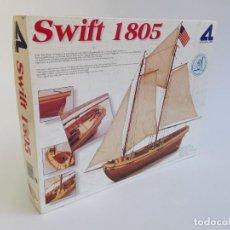 Macchiette: MAQUETA BARCO SWIFT 1805. PILOT BOAT. PRINCIPIOS SIGLO XIX. ARTESANÍA LATINA.. Lote 293746223