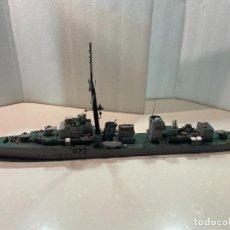Maquetas: MAQUETA ARTESANAL ESCALA 1:200 - HMS CAVALIER D73 - DESTRUCTOR CLASE C - ROYAL NAVY. Lote 293803443