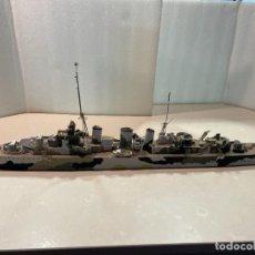 Maquetas: MAQUETA ARTESANAL ESCALA 1:200 - HMS ABDIEL - CRUCERO MINADOR - ROYAL NAVY. Lote 293808288