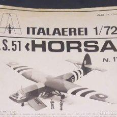 Maquetas: INSTRUCCIONES DE MONTAJE DEL A.S.51 HORSA DE ITALERI. ESCALA 1/72. Lote 293851258
