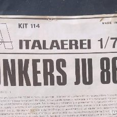 Maquetas: INSTRUCCIONES DE MONTAJE DEL JUNKERS JU-86 DE ITALERI. ESCALA 1/72. Lote 293851348