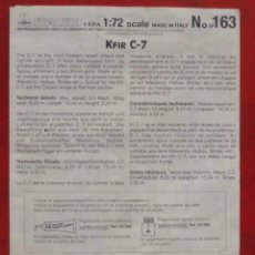 Maquetas: INSTRUCCIONES DE MONTAJE DEL KFIR C-7 DE ITALERI. ESCALA 1/72. Lote 293851358