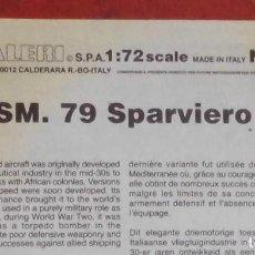 Maquetas: INSTRUCCIONES DE MONTAJE DEL SAVOIA MARCHETTI SM.79 DE ITALERI. ESCALA 1/72. Lote 293851388