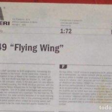 Maquetas: INSTRUCCIONES DE MONTAJE DEL YB-49 FLYING WIND DE ITALERI. ESCALA 1/72. Lote 293851423