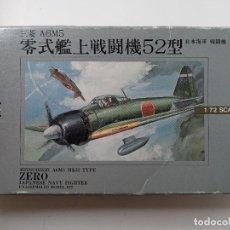 Maquetas: MITSUBISHI A6M5 MK52 TYPE ZERO JAPANESE NAVE FIGHTER - MAQUETA 1/72 - NELL - NUEVO. Lote 294010013