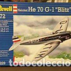 Maquetas: REVELL - HEINKEL HE 70 G-1 BLITX F-2 170A 1/72 04229. Lote 294033743