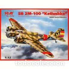 Maquetas: ICM - SB 2M-100 KATIUSHKA SPANISH AIR FORCE BOMBER 1/72 72161. Lote 294035648