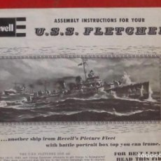 Maquetas: INSTRUCCIONES DE MONTAJE DEL USS FLETCHER DE REVELL. ESCALA 1/350. Lote 294118778