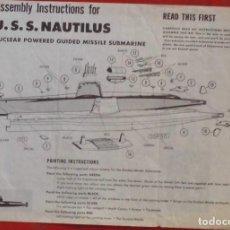 Maquetas: INSTRUCCIONES DE MONTAJE DEL USS NAUTILUS DE REVELL. ESCALA 1/350. Lote 294118823