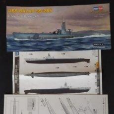Maquetas: INSTRUCCIONES DE MONTAJE DEL USS BALAO DE HOBBY BOSS. ESCALA 1/700. Lote 294119123