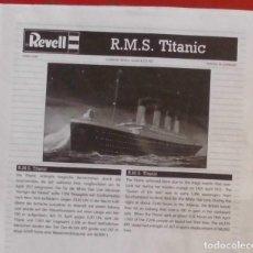 Maquetas: INSTRUCCIONES DE MONTAJE DEL TITANIC DE REVELL. ESCALA 1/1200. Lote 294119253