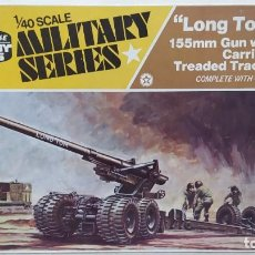Maquetas: LONG TOMORROW 155MM GUN WITH CARRIAGE TREADED TRACTOR. HOBBY KITS 1/40. NUEVO BOLSA SIN ABRIR. Lote 294167963