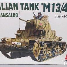 Maquetas: ITALIAN TANK M13/40 FIAT-ANSALDO. 1/35 ITALAEREI ANTERIOR A ITALERI. . NUEVO, BOLSA SIN ABRIR. Lote 294168598
