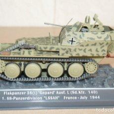 Maquetas: 65-TANQUE FLAKPANZER 38(T) GEPARD AUSF. L(SD.KFZ. 140) 1.SS-PANZERDIVISION LSSAH 1944 WWII 1:43 TANK. Lote 295507908