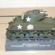 Maquetas: 67- TANQUE M4A3 (76MM) SHERMAN 37TH TANK BATTALION BASTOGNE (FRANCE) DECEMBER 1944 WWII 1:43 US ARMY. Lote 295510123