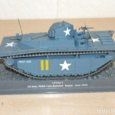 Maquetas: 68- TANQUE LVT(A)-1 US ARMY 708TH TANK BATTALION SAIPAN JUNE 1944 WWII 1:43 USA ANFIBIO CRAZY LEGS. Lote 295510703