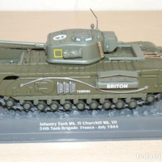 Maquetas: 69- TANQUE INFANTRY TANK MK. IV CHURCHILL MK. VII 34TH TANK BRIGADE FRANCE - JULY 1944 WWII 1:43. Lote 295511318