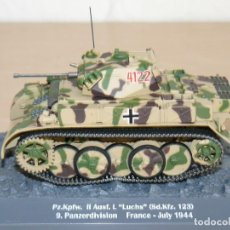 Maquetas: 70-TANQUE PZ.KPFW. II AUSF. L LUCHS (SD.KFZ. 123) 9. PANZERDIVISION FRANCE JULY 1944 WWII 1:43 TANK. Lote 295512068