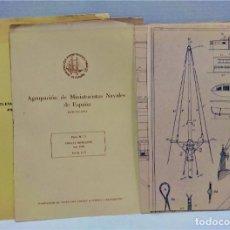 Maquetas: AGRUPACIÓN DE MINIATURISTAS NAVALES DE ESPAÑA.BARCELONA.PLANO GOLETA MERCANTE .AÑO 1900. Lote 295696908