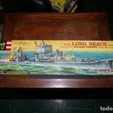 Maquetas: U.S.S. LONG BEACH CG(N)-9 BARCO NUCLEAR REVELL ORIGINAL 1960 CONTENIDO PRECINTADO. Lote 295897668
