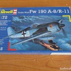 Maquetas: MAQUETA REVELL 1/72: FOCKE WULF FW- 190 A-8/R-11. Lote 296693503