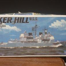 Maquetas: MAQUETA DE BARCO DE GUERRA BUNKER HILL USS MONTADA. Lote 297015073