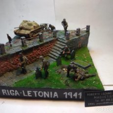 Maquetas: DIORAMA MILITAR-RIGA 1941.. Lote 297086603