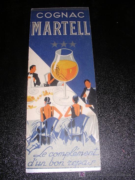 COGNAC MARTELL, 1930 APROX (Coleccionismo - Marcapáginas)