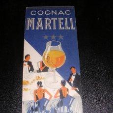 Coleccionismo Marcapáginas: COGNAC MARTELL, 1930 APROX. Lote 9700609