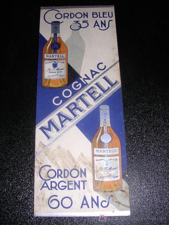 Coleccionismo Marcapáginas: COGNAC MARTELL, 1930 APROX - Foto 2 - 9700609