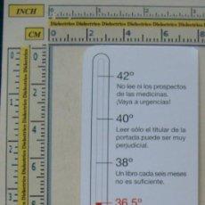 Coleccionismo Marcapáginas: MARCAPÁGINAS. SALUD PARA TODOS. TERMÓMETRO. PERFECTO. . Lote 8133256