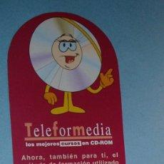 Coleccionismo Marcapáginas: MARCAPÁGINAS TELEFORMEDIA, CURSOS EN CD-ROM. CALENDARIO AÑO 2002. Lote 16475537
