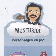 Coleccionismo Marcapáginas: MARCAPAGINAS TROQUELADO *MONTURIOL*. Lote 19022534