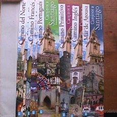 Coleccionismo Marcapáginas: 8 MARCAPAGINAS LOS CAMINOS A SANTIAGO, CON SU ESTUCHE. Lote 29651288