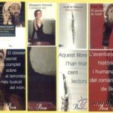 Coleccionismo Marcapáginas: 8 MARCAPÁGINAS. EDITORIAL PROA. DE VARIOS TITULOS. PUNTO DE LIBRO.. Lote 28612791