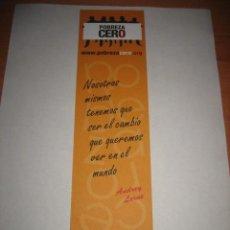 Coleccionismo Marcapáginas: POBREZA CERO CORDINACION ONG PARA EL DESARROLLO. Lote 20389091