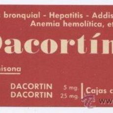 Coleccionismo Marcapáginas: MARCAPAGINAS PUBLICIDAD *DACORTIN* DE MERCK. Lote 78465847