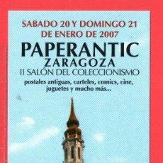 Coleccionismo Marcapáginas: UN MARCAPÁGINA PAPERANTIC II SALÓN DEL COLECCIONISMO DE ZARAGOZA. Lote 25318551
