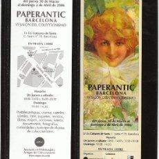 Coleccionismo Marcapáginas: PAPERANTIC. BARCELONA. 2006. Lote 25930435