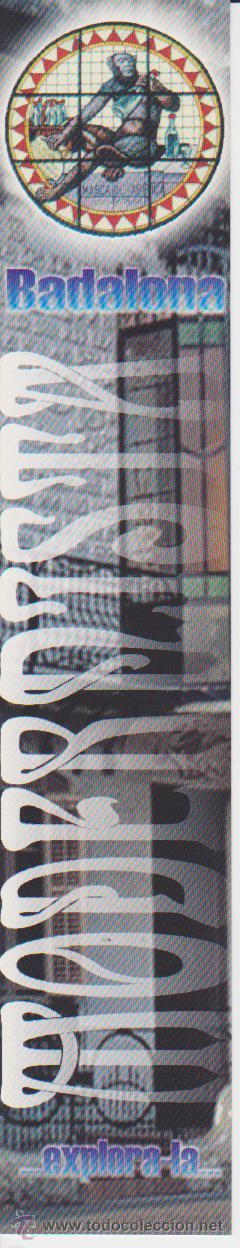 MARCAPGINAS ++ PUNT DE LLIBRE ++ BADALONA MODERNISTA (Coleccionismo - Marcapáginas)