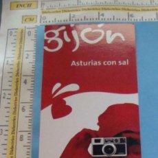 Coleccionismo Marcapáginas: MARCAPÁGINAS DE TURISMO. GIJÓN, ASTURIAS CON SAL. . Lote 27709861