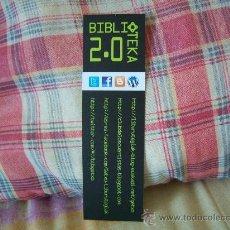 Coleccionismo Marcapáginas: BIBLIOTEKA 2.0 GETXOKO LIBURUTEGIAK BIBLIOTECAS DE GETXO. Lote 27778534