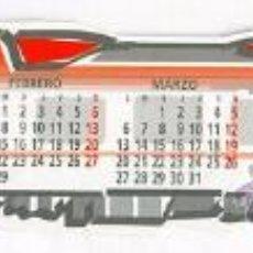 Coleccionismo Marcapáginas: MARCAPAGINAS TROQUELADO - RENFE REGIONALES 2000 - TREN FERROCARRIL CALENDARIO. Lote 29280980